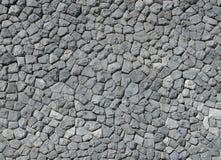 Aardachtergrond van de grijze textuur van de steenmuur Stock Afbeelding