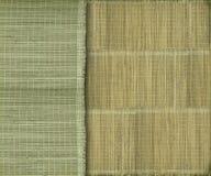 Aardachtige groene en gele bamboeachtergrond royalty-vrije stock fotografie