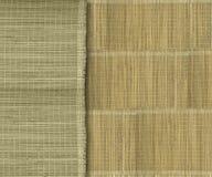 Aardachtige groene en gele bamboestroken stock fotografie