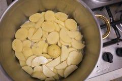 Aardappel in de pot royalty-vrije stock afbeelding