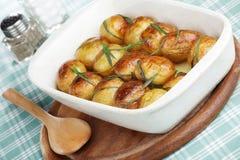 Aardappel in de schil Stock Foto
