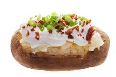 Aardappel in de schil stock afbeelding
