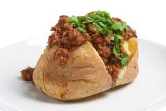 Aardappel in de schil & Chili con carne Stock Fotografie