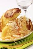 Aardappel in de schil en kaas royalty-vrije stock afbeelding