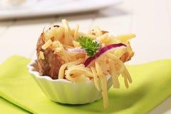 Aardappel in de schil en kaas royalty-vrije stock foto