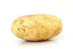 Aardappel die op wit wordt geïsoleerd stock afbeelding
