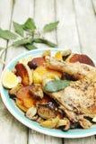 Aardappel en kip Royalty-vrije Stock Foto's