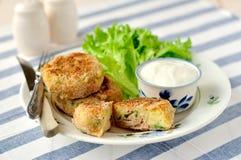 Aardappel en Tuna Cakes Stock Afbeelding