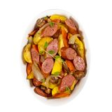Aardappel en Worstdiner Stock Foto
