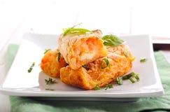 Aardappel en wortelcroquetten Stock Afbeelding