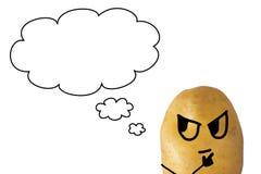 Aardappel het Denken Stock Afbeelding