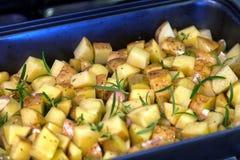 Aardappel met Rosemary Royalty-vrije Stock Fotografie