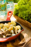 Aardappel met ui en vlees Stock Fotografie