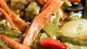 Aardappel met wortelen en paprika Stock Foto
