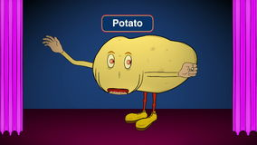 Aardappel-op stadium-spreekt Recepten stock videobeelden