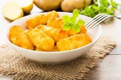 Aardappelcroquetten Stock Foto