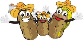 Aardappelfamilie Royalty-vrije Stock Foto's