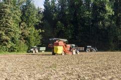Aardappelmaaimachine Stock Foto