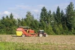 Aardappelmaaimachine Royalty-vrije Stock Foto