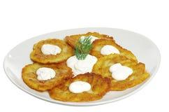 Aardappelpannekoeken Royalty-vrije Stock Afbeeldingen