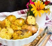 Aardappels die in hun jasjes worden gekookt Stock Afbeelding