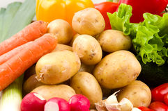 Aardappels en andere groenten Royalty-vrije Stock Afbeelding