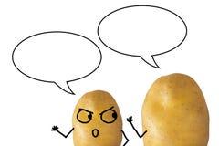 Aardappels het spreken Stock Foto