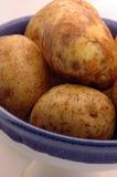 Aardappels in kom royalty-vrije stock afbeeldingen