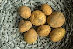 Aardappels in mand Royalty-vrije Stock Fotografie