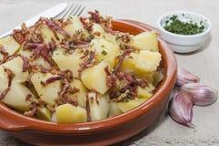 Aardappels met ham Royalty-vrije Stock Foto's