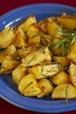 Aardappels met rozemarijn Stock Foto