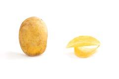 Aardappels op de witte achtergrond Royalty-vrije Stock Fotografie