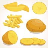 Aardappels vectorillustratie Stock Afbeelding