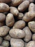 Aardappels voor verkoop Stock Afbeelding
