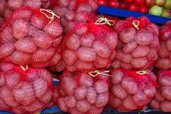 Aardappels in zakken Royalty-vrije Stock Fotografie