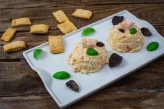 Aardappelsalade met mayonaise stock fotografie
