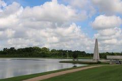Aardbeeld voor de Riviergang van Sugar Land Memorial Park en Brazos- royalty-vrije stock afbeeldingen