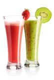 Aardbei & kiwi smoothie Stock Foto