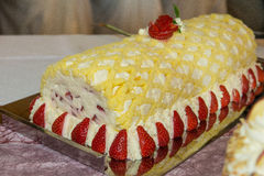 Aardbei cake Royalty-vrije Stock Fotografie