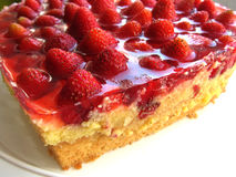 Aardbei cake Royalty-vrije Stock Afbeeldingen