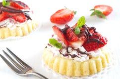 Aardbei cake Stock Afbeeldingen