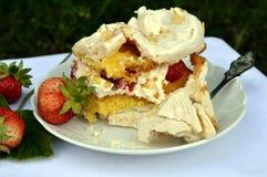 Aardbei cake Stock Foto's