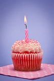 Aardbei Cupcake Stock Afbeelding