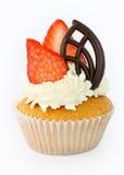 Aardbei cupcake Stock Foto's