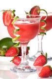Aardbei Daiquiri - de Meeste populaire cocktails serie Royalty-vrije Stock Foto's