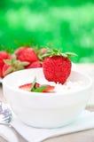 aardbei dessert stock afbeelding