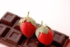 Aardbei en chocolade Stock Fotografie