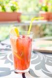 Aardbei en citroencocktail Stock Foto