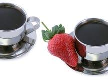 Aardbei en Koffie royalty-vrije stock foto