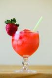 Aardbei Margarita bij Bar Stock Fotografie